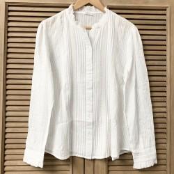 Chemise boutonnée blanche CH002 - C'est Beau la Vie