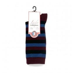 Chaussettes rayées 54049 Bordeaux - Labonal