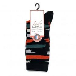 Chaussettes traits pinceaux 53886 Noir - Labonal