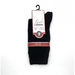 Chaussettes Laine et soie 58229 Noir - Labonal