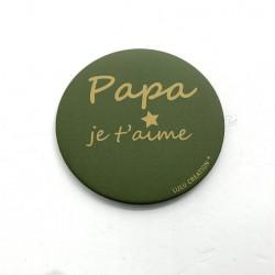 Magnet Papa je t'aime - Lulu création