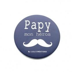 Magnet Papy mon héros - Lulu création