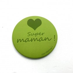 Magnet Super maman - Lulu création