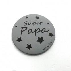 Magnet Super papa - Lulu création