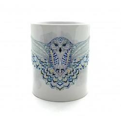 Mug -  Chouette bleu