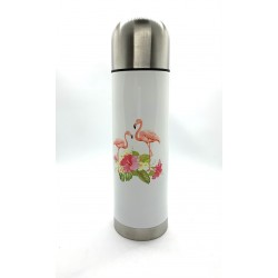 Bouteille en inox isotherme - FLAMANT ROSE
