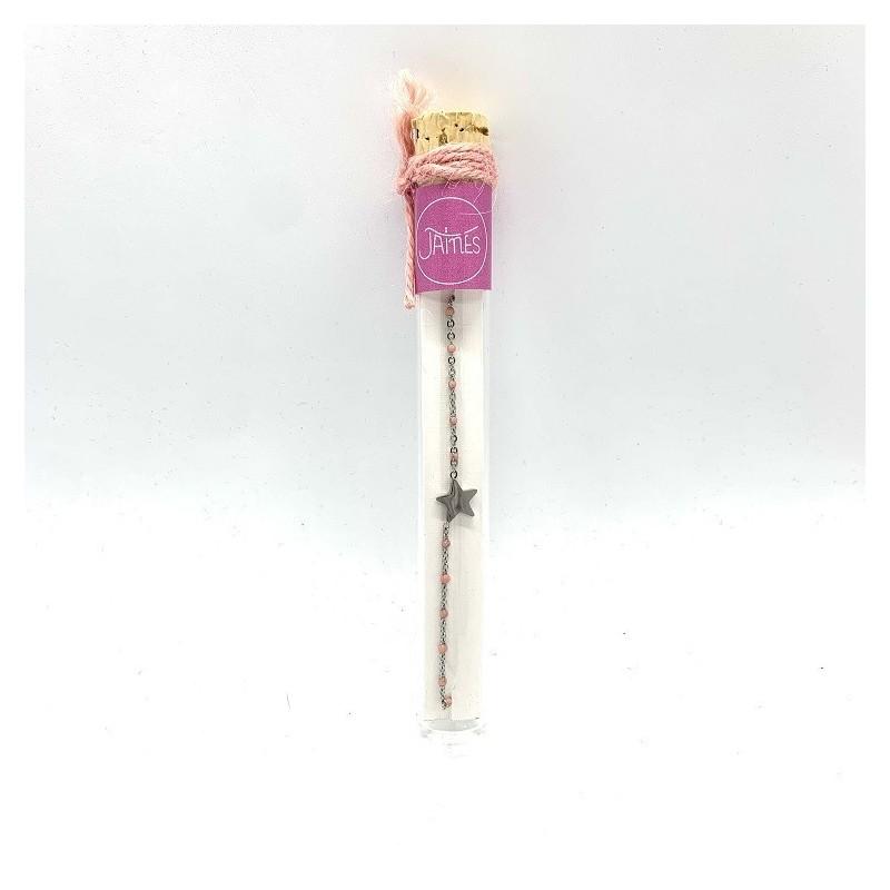 Bracelet étoile - Rose clair - Jaïnès & Co