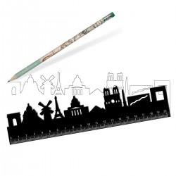 Règle noir PARIS - Legami