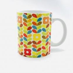 Mug - Fleurs seventies -...