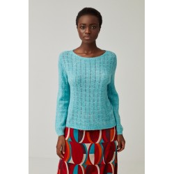 Pull turquoise DEPO231 -...