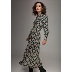 Robe longue imprimée W7195...