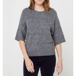 Pull col rond PU301 Gris...